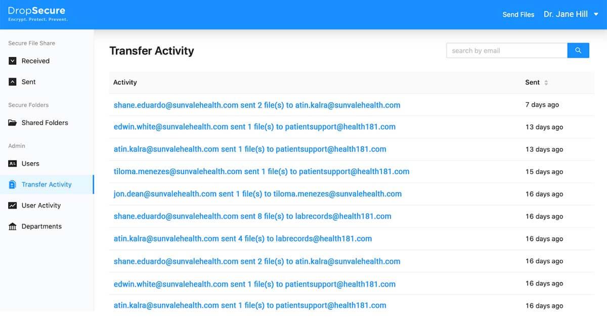 Keep track of folder activity